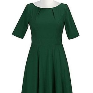 Forest Green Fit and Flair XL 18 Dress